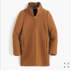 J crew lodge coat in heather acorn